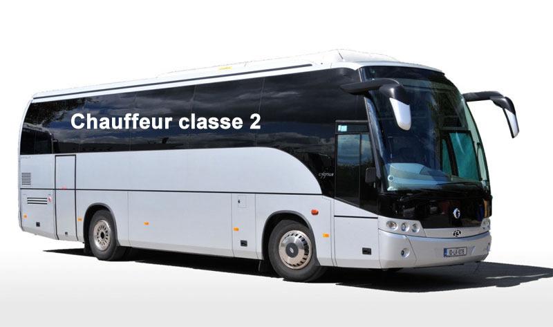 Comment avoir le Permis de conduire pour Chauffeur classe 2 - Autobus aménagé pour le transport de plus de 24 passagers