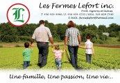 Emplois chez Les Fermes Lefort inc