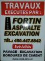 Fortin asphalte excavation